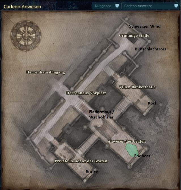 Carleon-Anwesen Deutscher Guide
